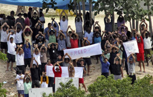 Audio from recent protests on Nauru