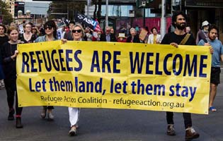 Welcome refugees rally success