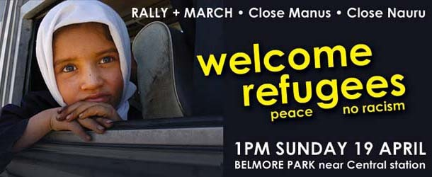Welcome refugees rally