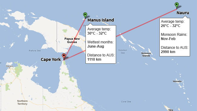 Manus Island World Map